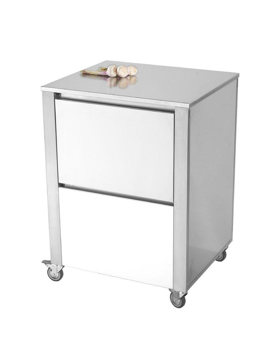 CUN Base2 Acrylstein weiss ___ Küchenwagen aus Edelstahl der Serie ...